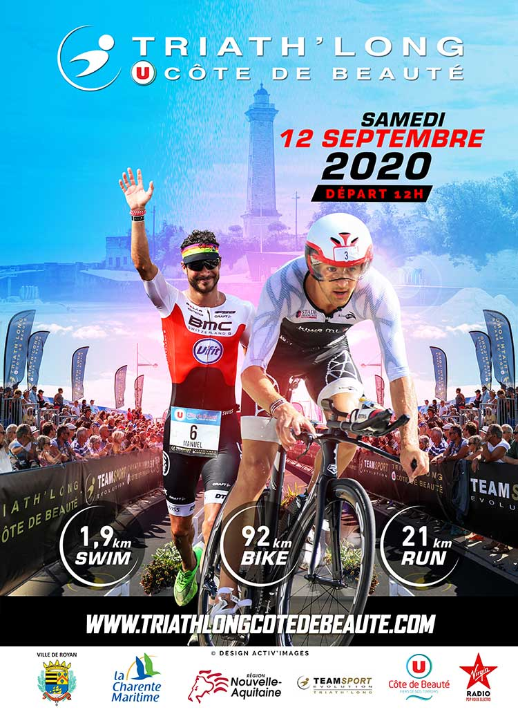 Affiche triathlong 2020 Royan